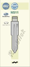 NS11 Key Blank - Nissan Ford Subaru Infinity