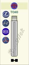 TO40 Key Blank - Toyota Lexus Hyundia Kia