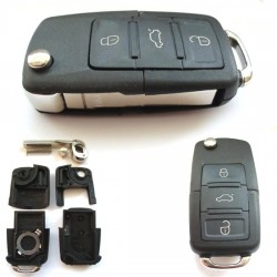 Replacement 3 Button Flip Key Case For VW R851-Key-case
