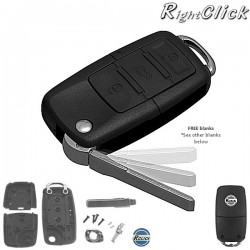 UNIVERSAL Remote Key case with free blank For Any Car R669KEY