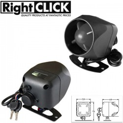 12V Battery Backup Siren for Car Alarm 120dB. (+) and (-) trigger